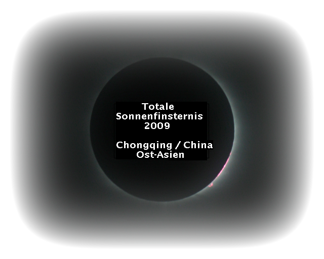 Totale Sonnenfinsternis 22. Juli 2009 (Chongqing / Zentral-China / Ost-Asien)