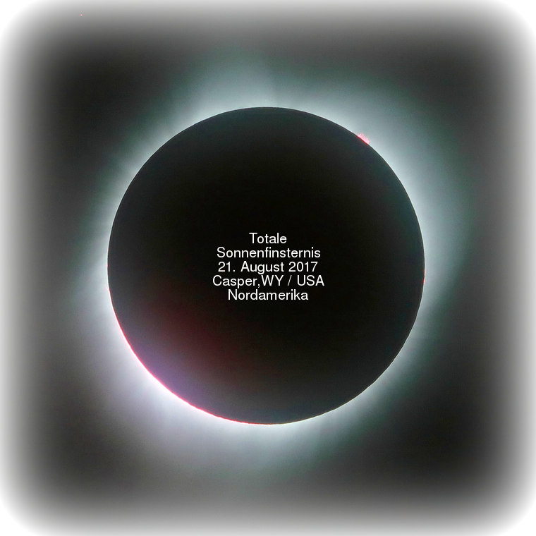Totale Sonnenfinsternis 21. August 2017 (Casper,WY / USA / Nordamerika)